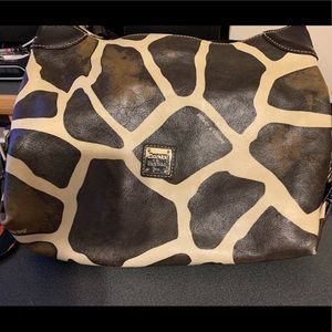 Dooney leather zebra handbag